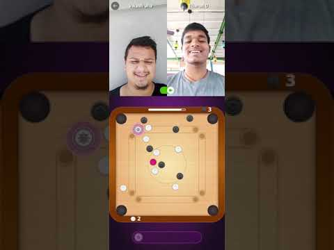 Carrom Game Real People Video Chat | Online Friends | Hello Play