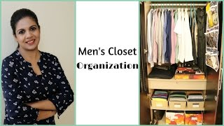 Men's Closet Organization - How To Organize Men's Clothes