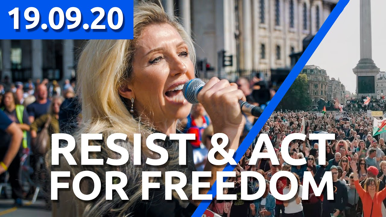 KATE SHEMIRANI - RESIST & ACT FOR FREEDOM - 19.09.2020 at London Trafalgar Square - PART 1