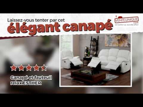 Fauteuil Et En Youtube Relax Simili Canapé Esther 54q3RjAL