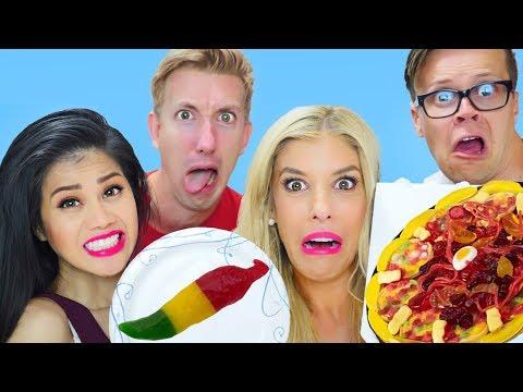 GUMMY FOOD vs REAL FOOD w/ Rebecca Zamolo, Matt Slays & Chad Wild Clay