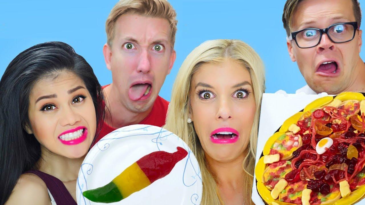 Download GUMMY FOOD vs REAL FOOD w/ Rebecca Zamolo, Matt Slays & Chad Wild Clay