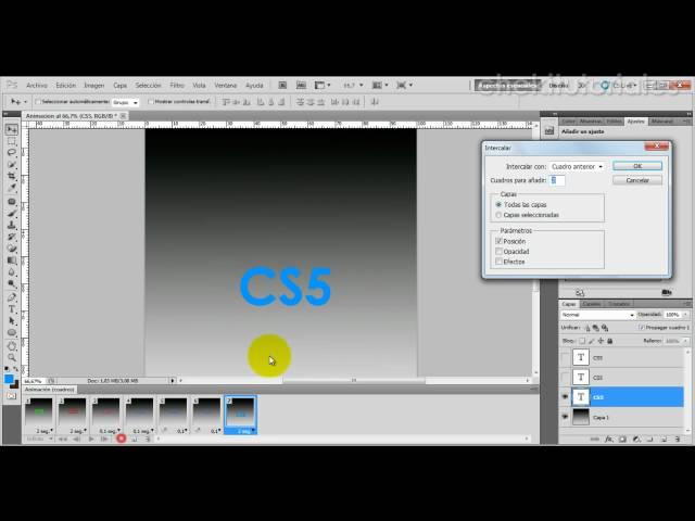 Photoshop CS5  Crear animaciones