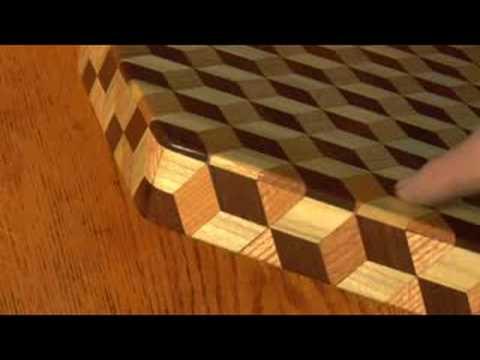 Robin Tucker Of Wood Mosaics Tumbling Block Lazy Susan
