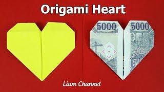 Money origami HEART | Liam Channel