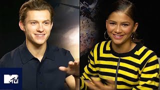 Spider-Man: Homecoming   Tom Holland & Zendaya's Funniest Moments 😂   MTV Movies
