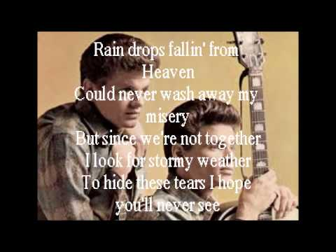 """Crying In The Rain"" By: The Everly Brothers (Lyrics)"