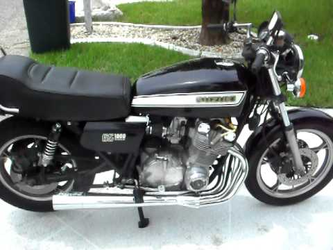 Suzuki GS 1000 E fastest motorcycle in the world in 1979 open header