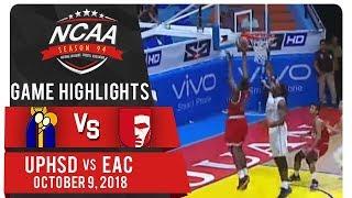 NCAA 94 MEN'S BASKETBALL: UPHSD vs. EAC | Game Highlights | October 9, 2018