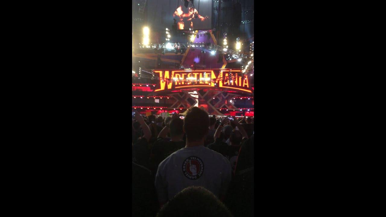 Brock Lesner Entrance Wrestlemania 30 - YouTube