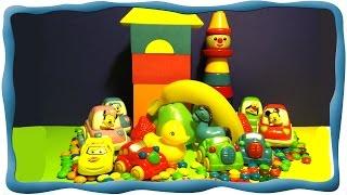 Веселая Радуга, Учим цвета, Строим домик, Собираем пирамидку, Веселые машинки. Обучающее видео