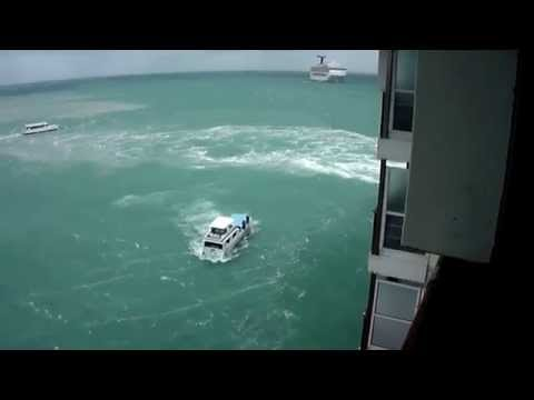Belize rough weather- Carnival Pride 11-20-14