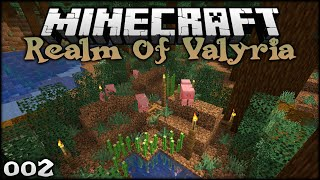 BUILDING A MUDDY MINECRAFT PIG PEN! | The Realm of Valyria (Minecraft Survival Building) Episode 2