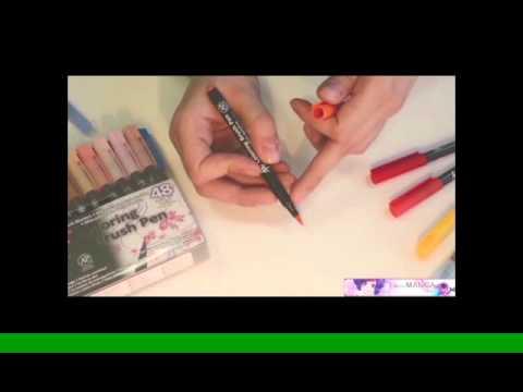 Koi Coloring Brush Pen - YouTube
