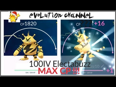 Electabuzz max CP for all levels - Pokemon Go