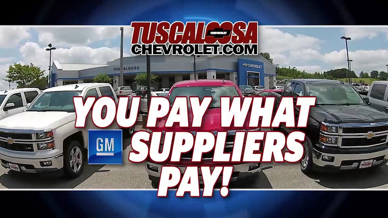 Tuscaloosa Chevy Memorial Day Sale Youtube