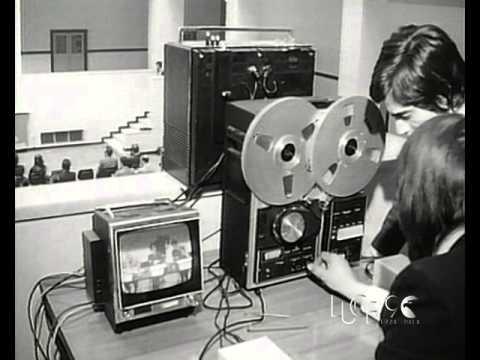 Convegno sulla tv via cavo a TeleBiella (1973)