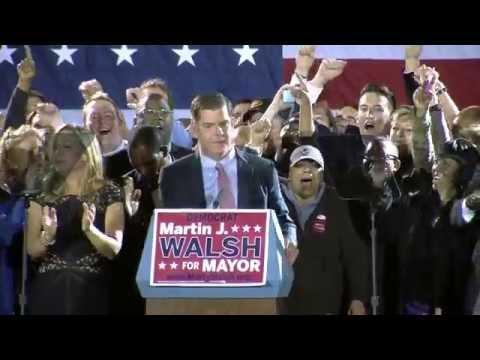 Marty Walsh Celebrates Win On Election Night