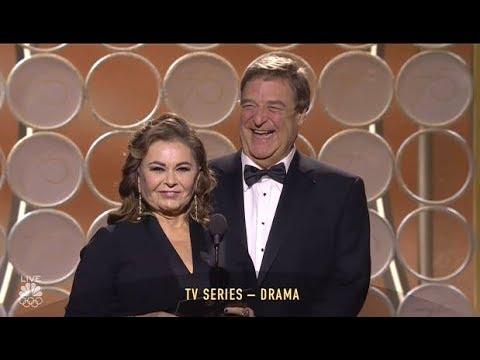 Roseanne Barr & John Goodman Present  Golden Globes