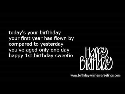 india first birthday wishes and 1st bday greetings youtube