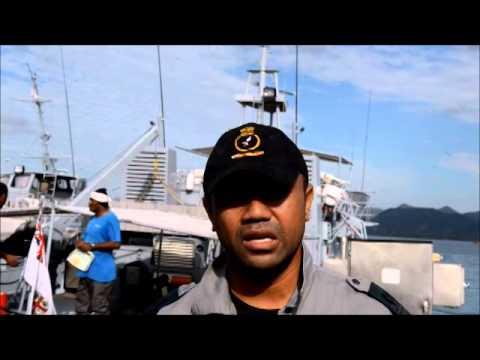 Fiji Navy rescued fisherman at sea