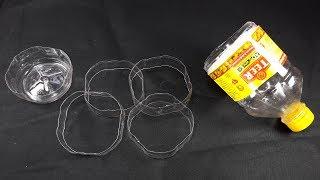 plastic bottle craft idea | best out of waste | plastic bottle reuse idea | woolen craft