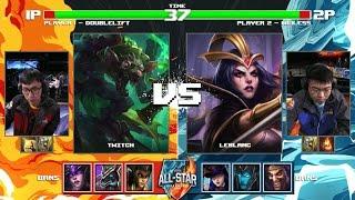 DoubleLift Twitch vs We1less LeBlanc | Round of 32 1v1 Tournament All-Stars 2016 | EU vs SEA