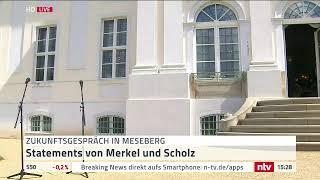Live: Statement Merkel und Scholz beim Zukunftsgespräch in Meseberg