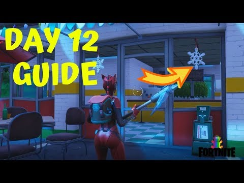 Fortnite Season 7 Week 8 Snowfall Challenge Secret Banner Location In Loading Screen 8 Youtube
