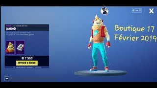 FORTNITE BOUTIQUE of February 17, 2019 New SKIN ITEM SHOP February 17 2019 NEW SKIN!