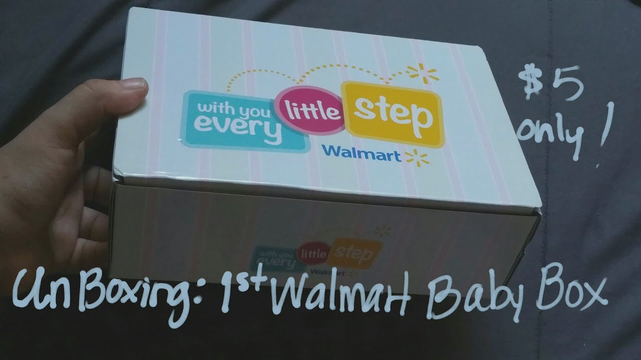 UnBoxing: Walmart 3rd Trimester Baby Box - YouTube