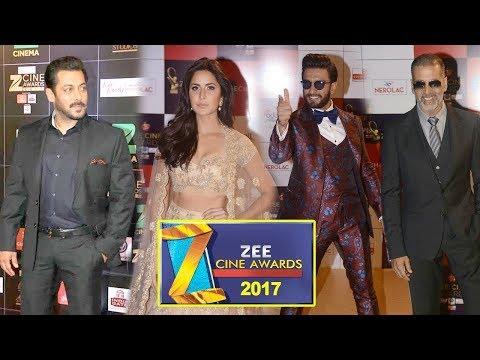 Zee Cine Awards 2017 Full Show Red Carpet | Salman Khan GF Katrina Kaif,Ranveer Singh,Akshay Kumar
