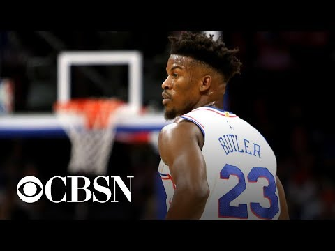 Jimmy Butler postgame interview after Sixers home debut ends with a ... 3d0f78465