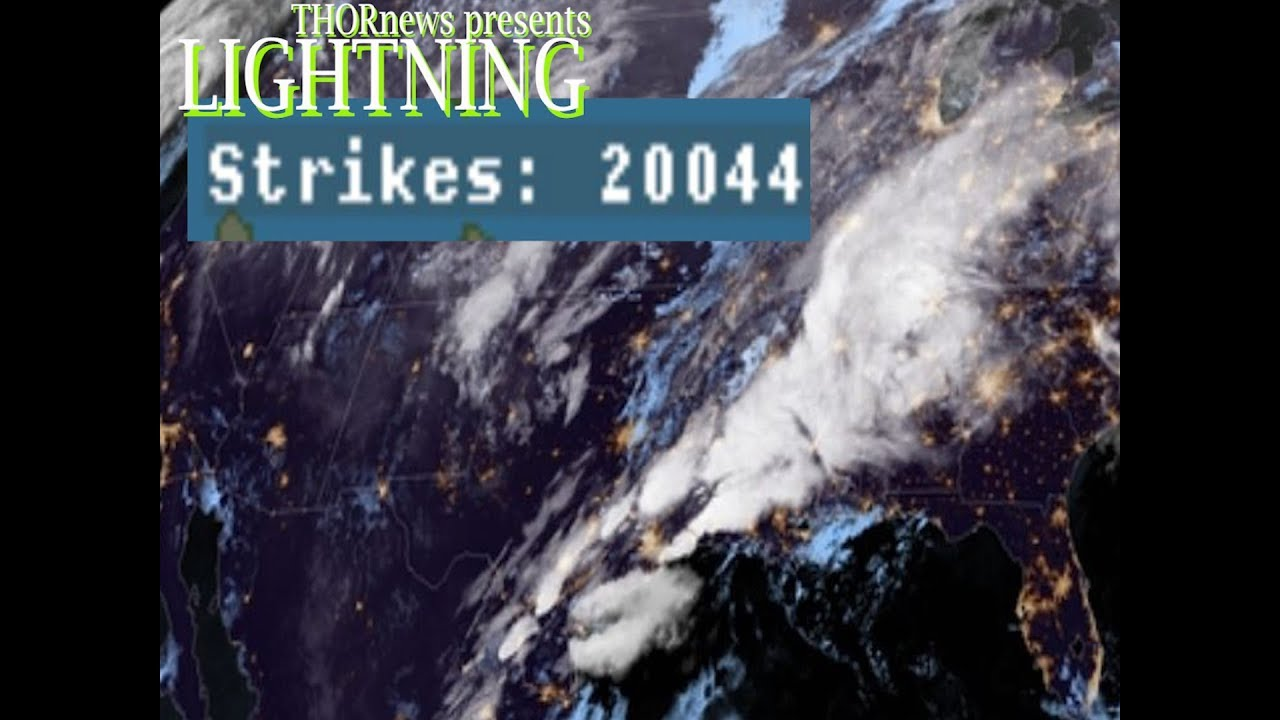 20000 lightning strikes in 2 hours this storm is fierce flooding