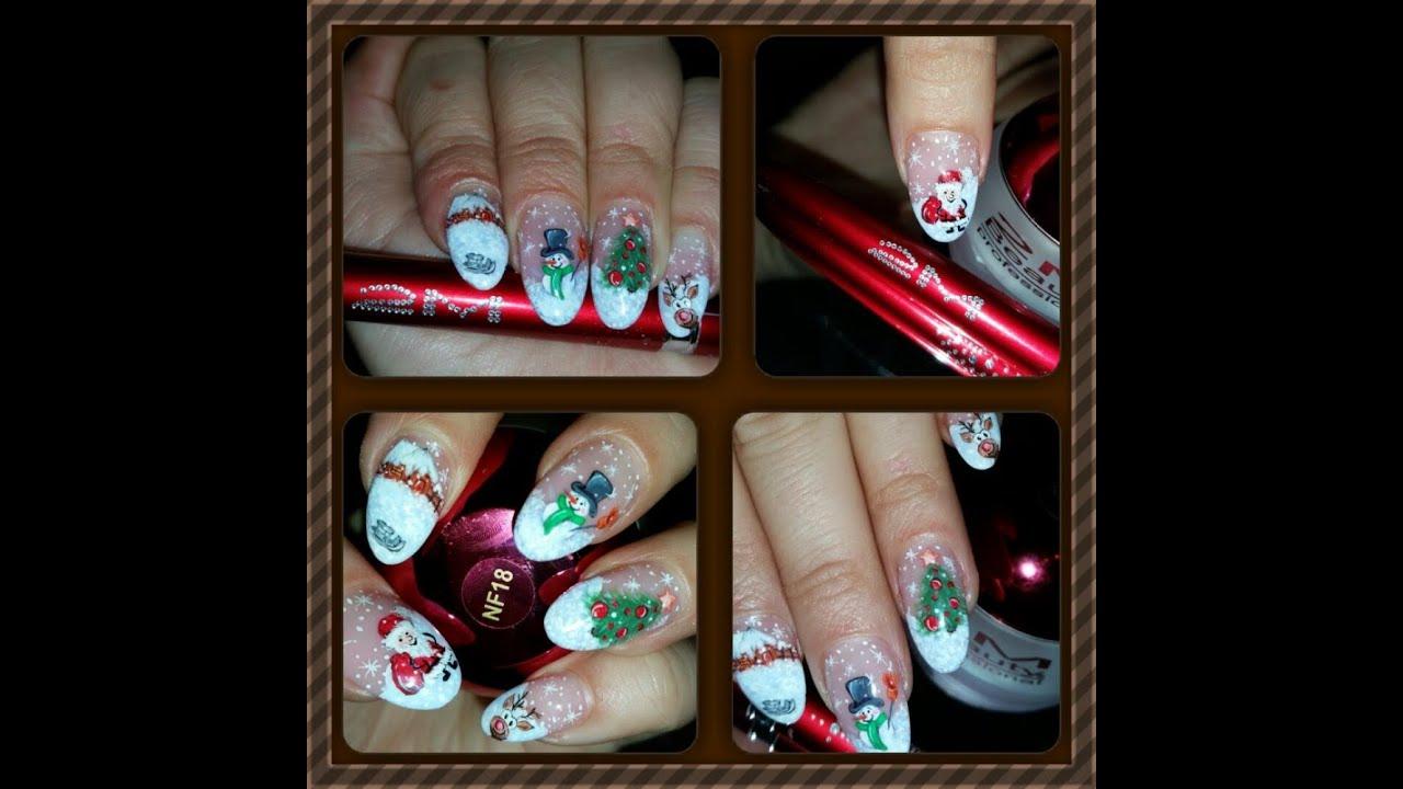 Christmas Nails Modele De Unghii De Craciun Concurs 2m Beauty