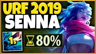 *NEW CHAMPION* MY GLOBAL SNIPE HAS NO COOLDOWN (URF 2019 SENNA) - League of Legends