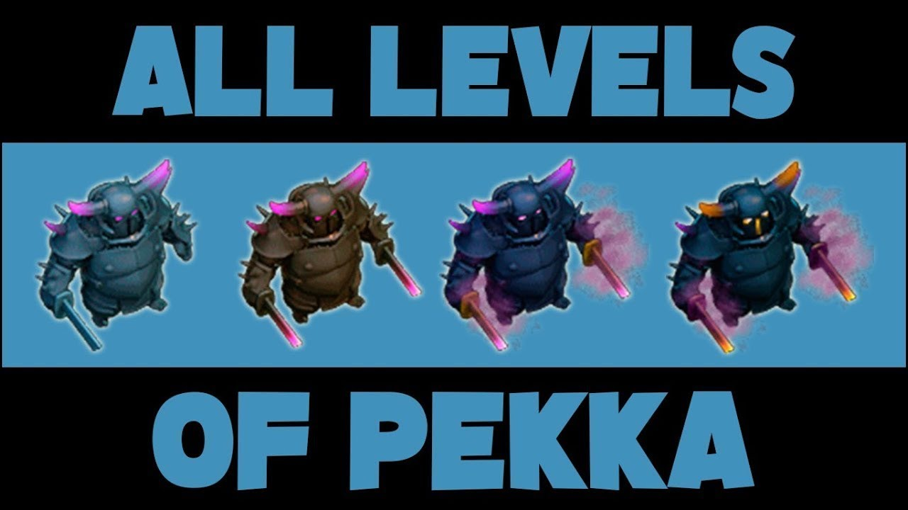 [Level 1 to MAX] How every level of PEKKA looks | Clash of Clans