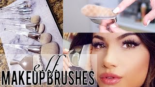 NEW E.L.F. MAKEUP BRUSHES! + Full Face Tutorial!