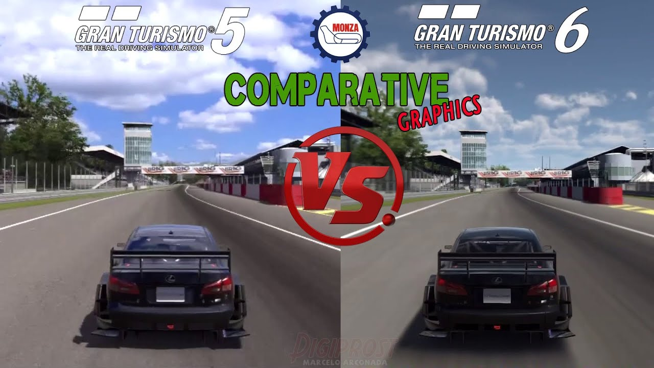 gran turismo 6 vs gran turismo 5 lexus is f racing monza youtube. Black Bedroom Furniture Sets. Home Design Ideas