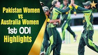 Highlights - 1st ODI: Pakistan Women vs Australia Women, Kinrara Academy Oval Kuala Lumpur thumbnail