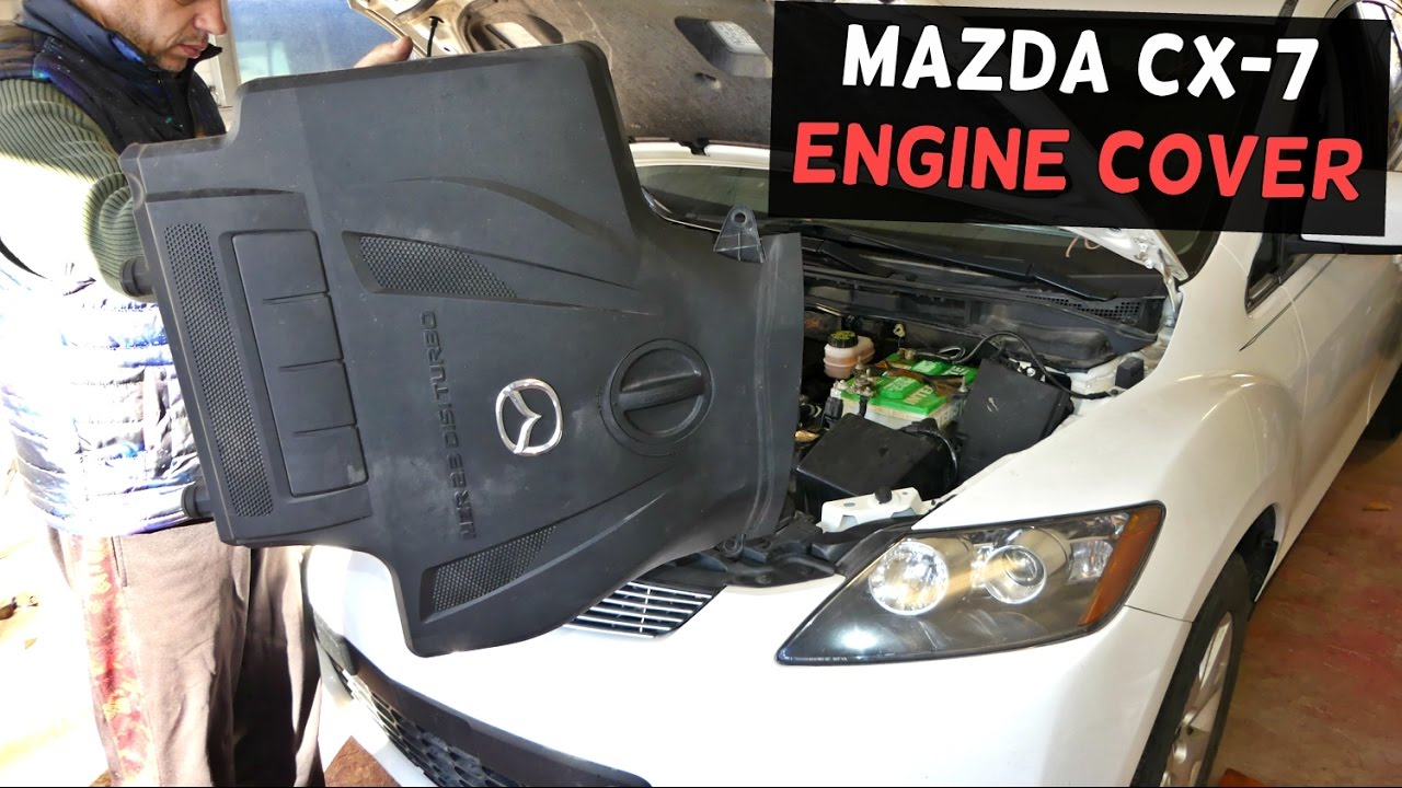 mazda cx 7 cx7 upper engine cover removal replacement. Black Bedroom Furniture Sets. Home Design Ideas