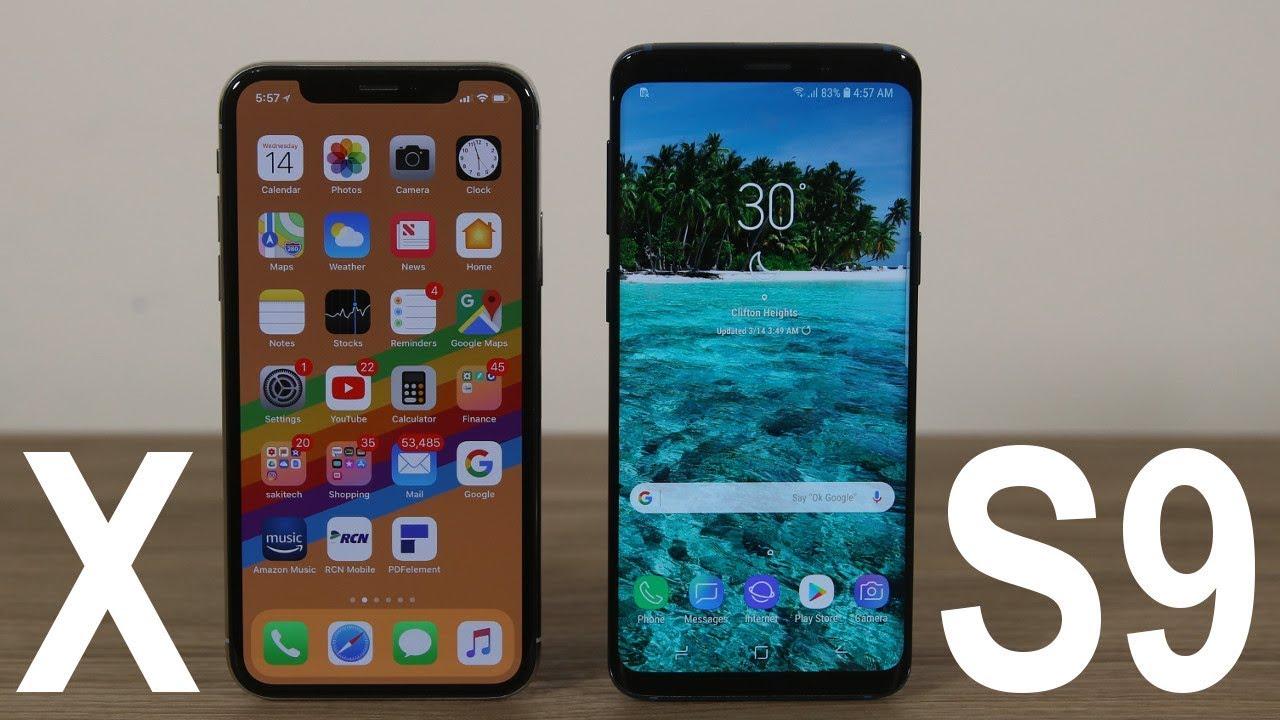 timeless design 429b9 d3b32 Samsung Galaxy S9 vs iPhone X : Full Comparison (Winner Decided)