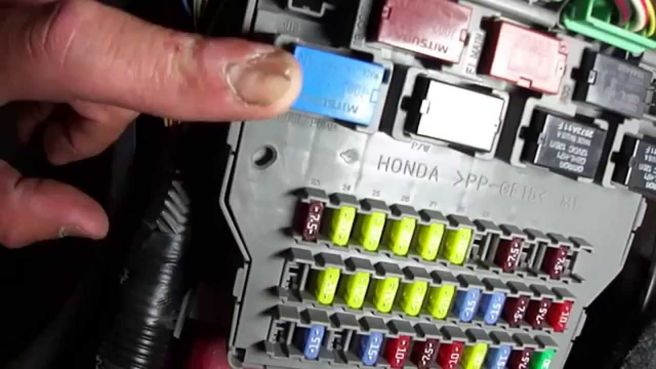 rsx under dash fuse box diagram 2004 honda accord slow start and efi relay problem  part 2  2004 honda accord slow start and efi relay problem  part 2