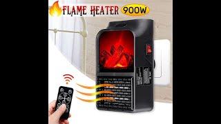 휴대용 핸디 벽 콘센트 숯불화로 입체난로 온풍기 전기히…