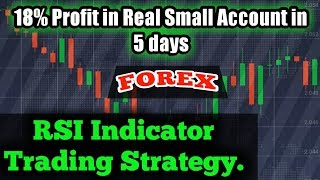 RSI indicator Trading Strategy. 18% profit in 5 days. Best Forex trading Strategy. By Asirfx