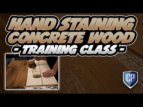 Hand Staining Concrete Wood - Training Class