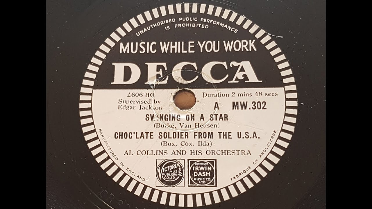 Al Collins And His Orchestra 'Music While You Work' 1945 78 rpm