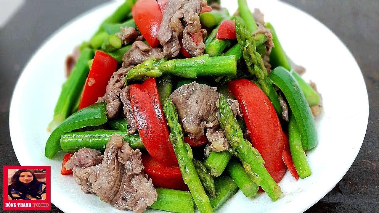 Cách làm món Măng Tây xào Thịt Bò giàu dinh dưỡng cho cả nhà by Hồng Thanh Food