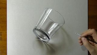 Zeichnung von einem einfachen Glas - How zum zeichnen von 3D-Kunst