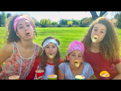 The Pringles Challenge!  (Haschak Sisters)